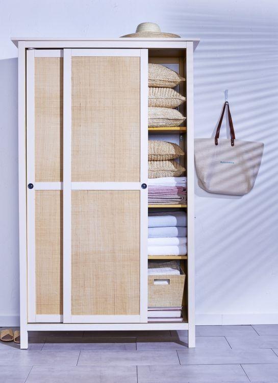 2. Hemnes IKEA Hack with Fabric via Simphome.com