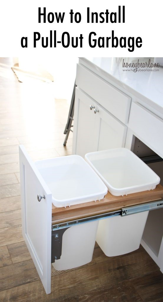 3. Pull Out Garbage Can in a Cabinet via Simphome