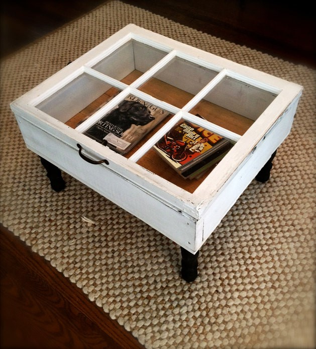 3. Transparent Coffee Table via Simphome
