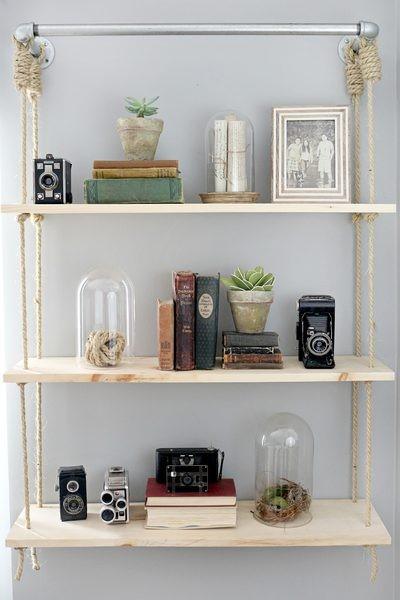 3. Try DIY Floating Shelves via Simphome