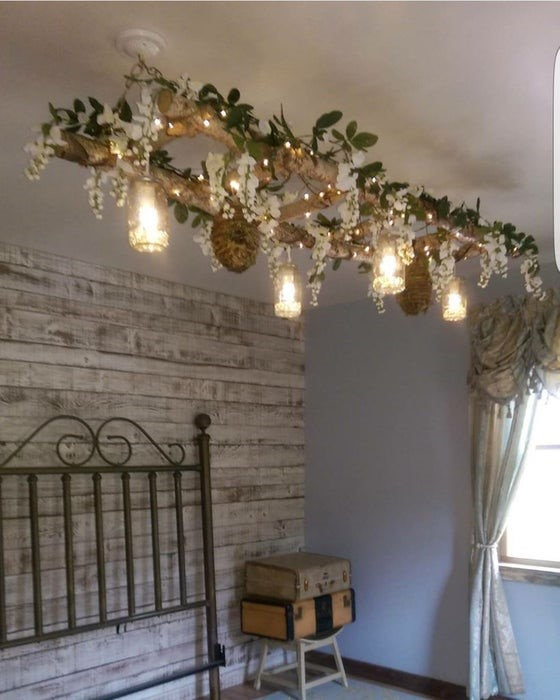 4. Romantic and Rustic Pendant Light via Simphome