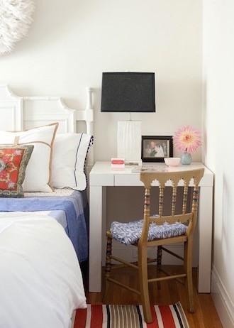 5. Consider a Desk as Your Night Stand via Simphome