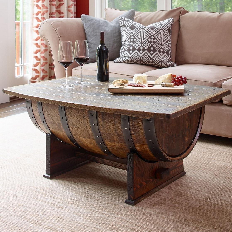 5. Old Barrel Coffee Table via Simphome