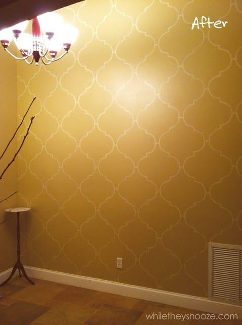 5. Stencil Your Wall via Simphome