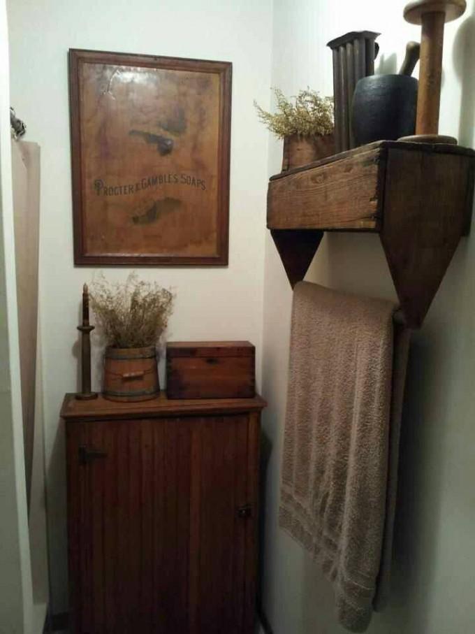 6. A Rustic Wooden Shelf via Simphome.com