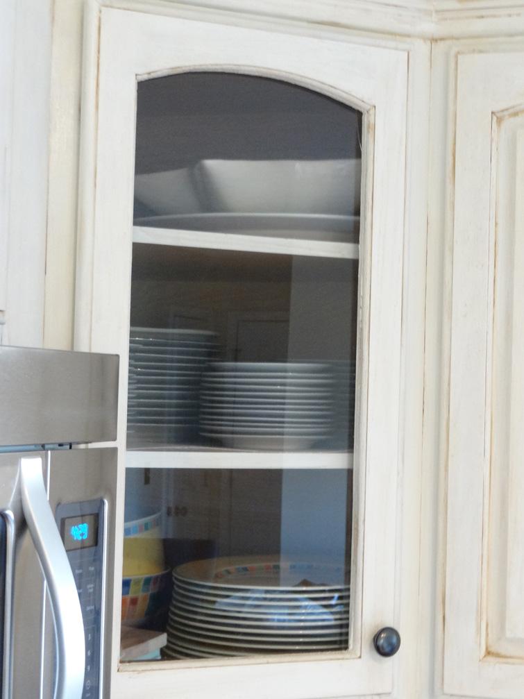 6. Glass Cabinet Doors via Simphome