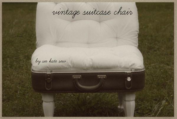 6. Mini Suitcase Chair via Simphome