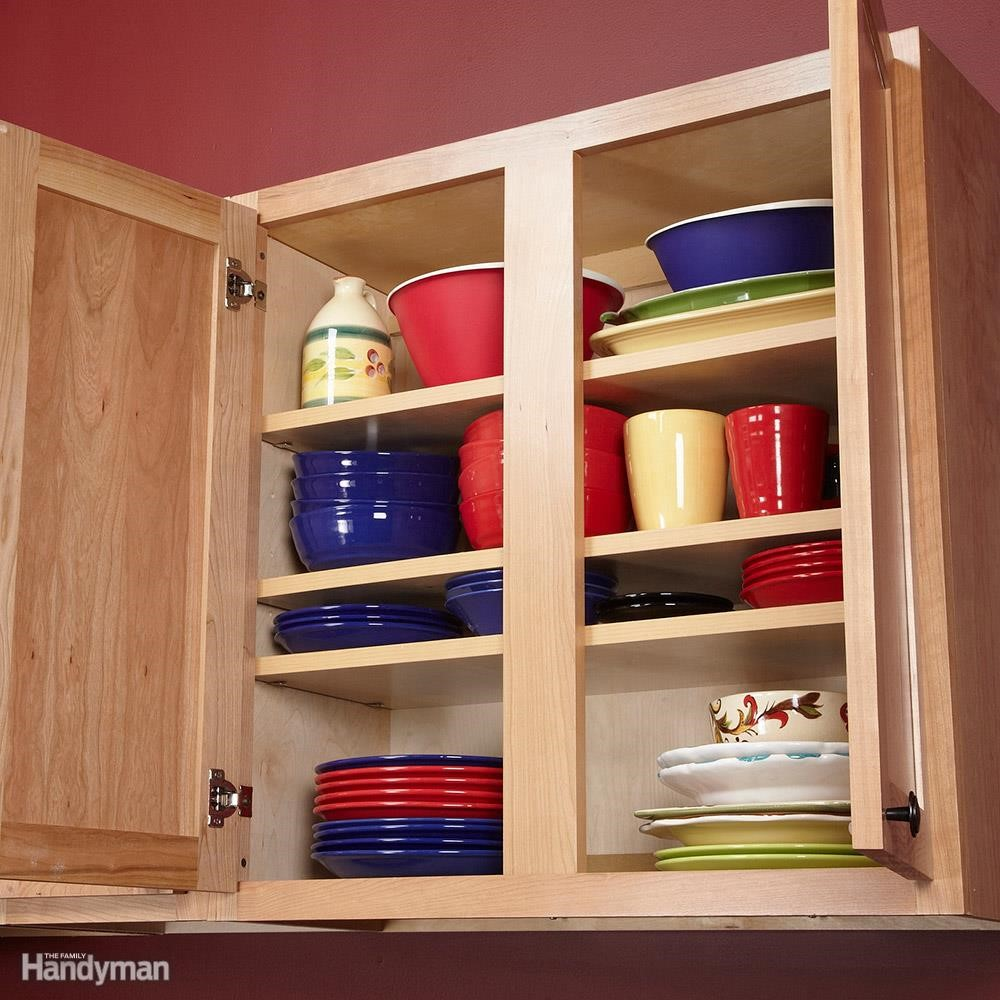 7. Add More Shelves in Your Cabinet via Simphome