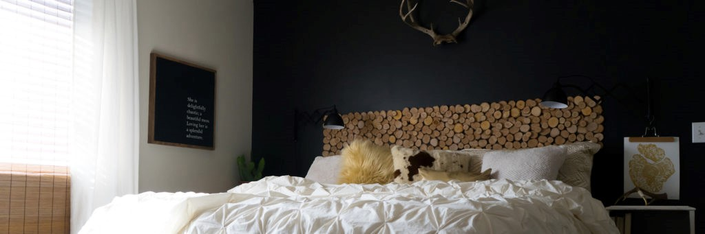 8. Rustic Headboard on the Cheap via Simphome