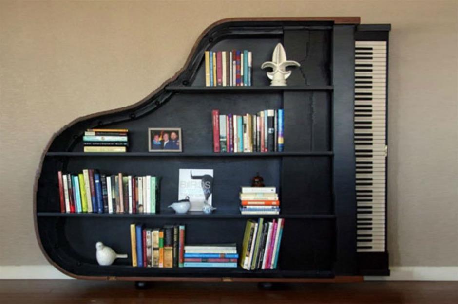 9. Unique Bookshelf via Simphome
