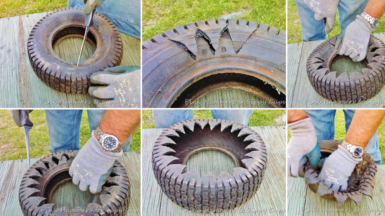 How to build an Awesome Tire Planter via Simphome.com thumbnail