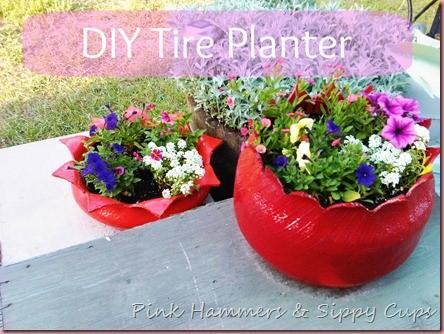 Tire as Planter via Simphome 1