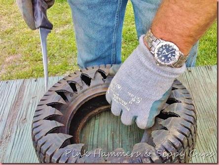 Tire as Planter via Simphome 5