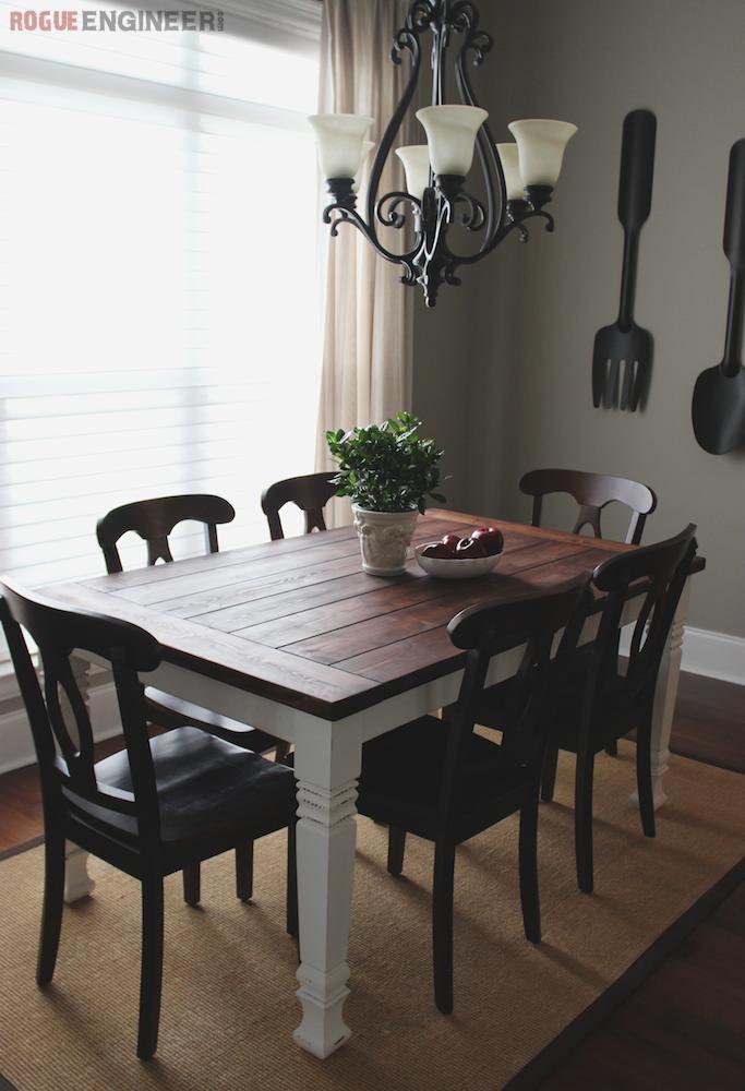 1. Modern Farmhouse Dining Table via Simphome