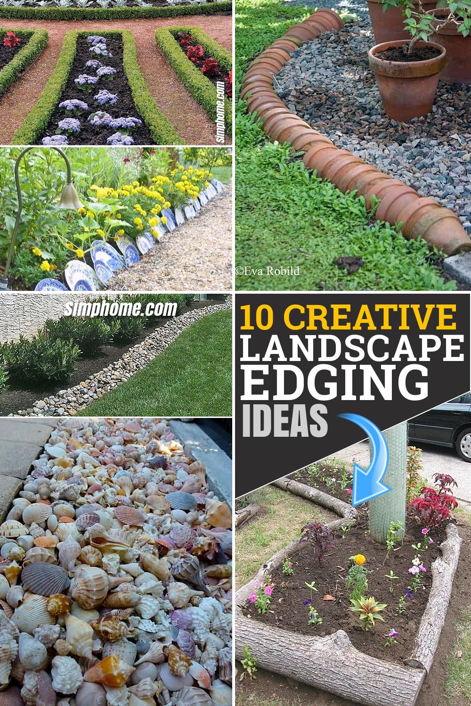 10 Creative Landscape Edging Ideas by SIMPHOME.COM Ideas Featured pinterest long