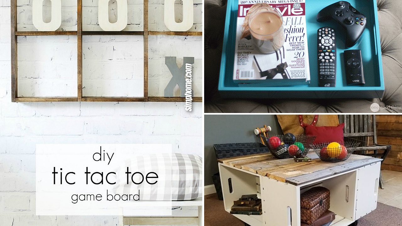 10 DIY Organization Projects for Family Rooms via Simphome.com Featured image