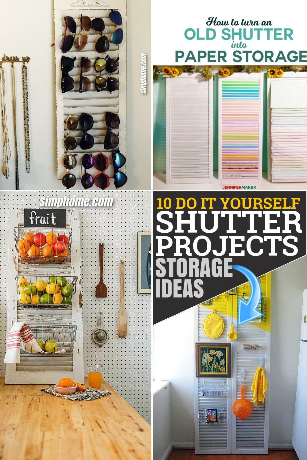 10 DIY Shutter Projects by SIMPHOME.COM That Will Level Up Your Storage Solutions Game Pinterest Featured Image