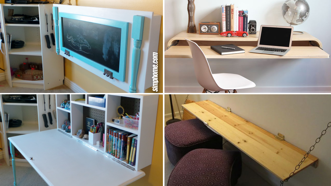 Outstanding 10 Diy Wall Mounted Desk Ideas Simphome Download Free Architecture Designs Jebrpmadebymaigaardcom