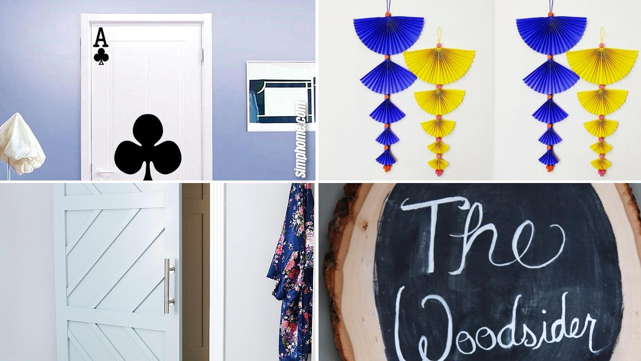 10 DIY bedroom door décor ideas via Simphome.com Featured Image