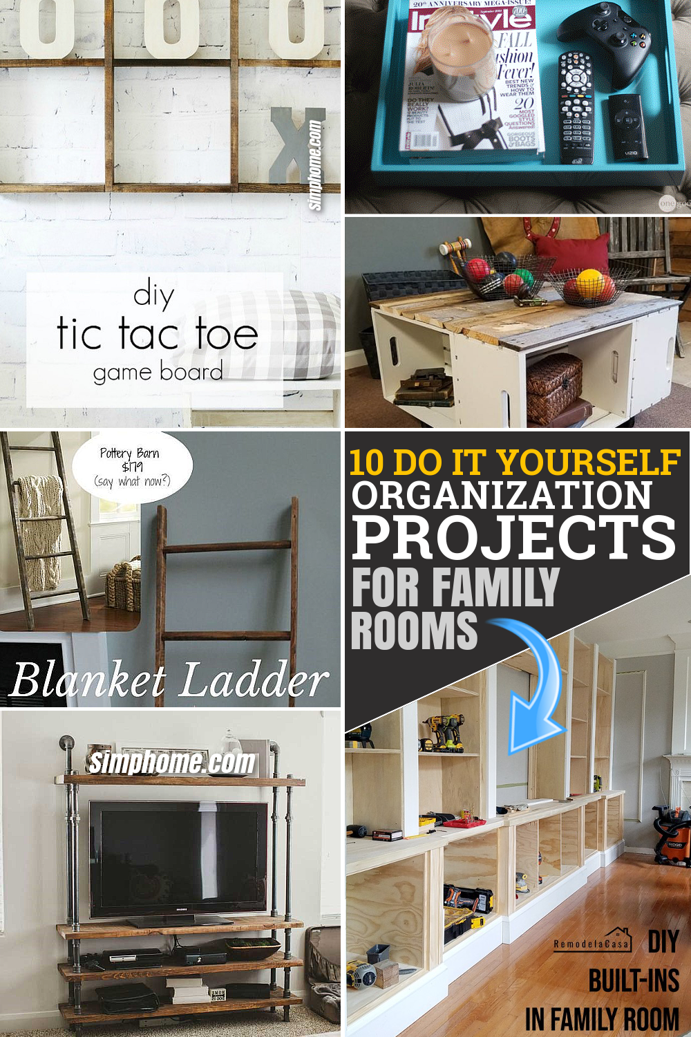 10 DIY organization projects by SIMPHOME.COM Ideas Featured pinterest long