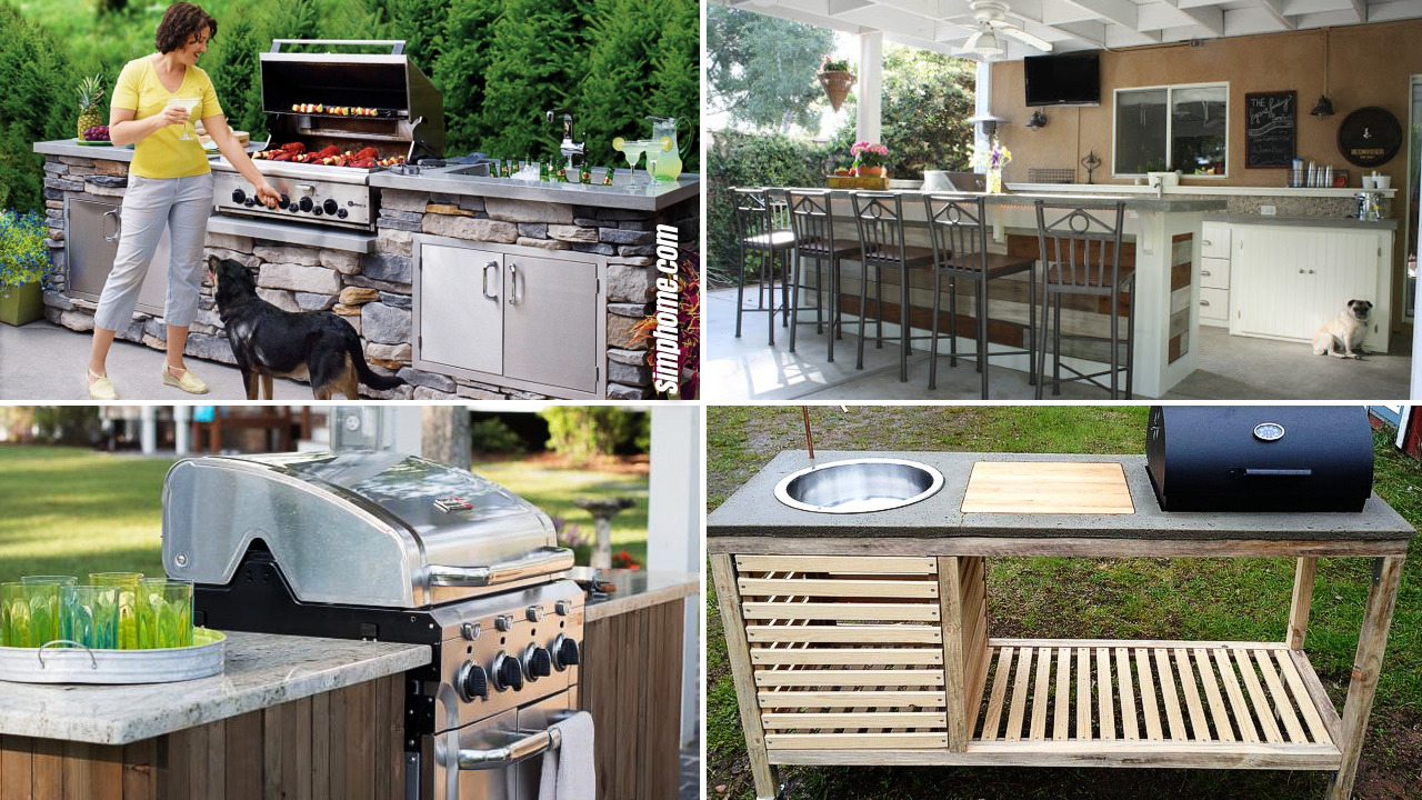 10 DIY projects that are perfect for your outdoor kitchen via Simphome.com Featured Image