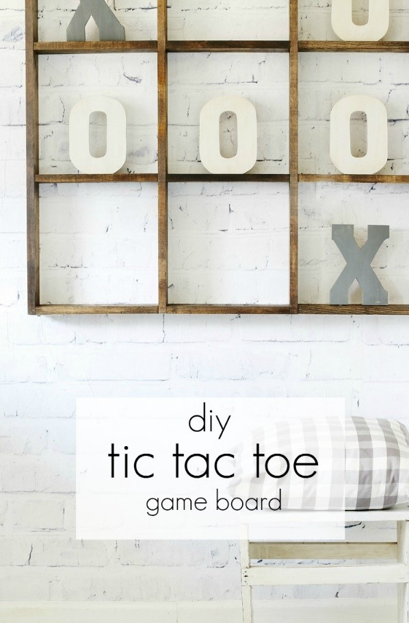 10. Big Tic Tac Toe Board via Simphome