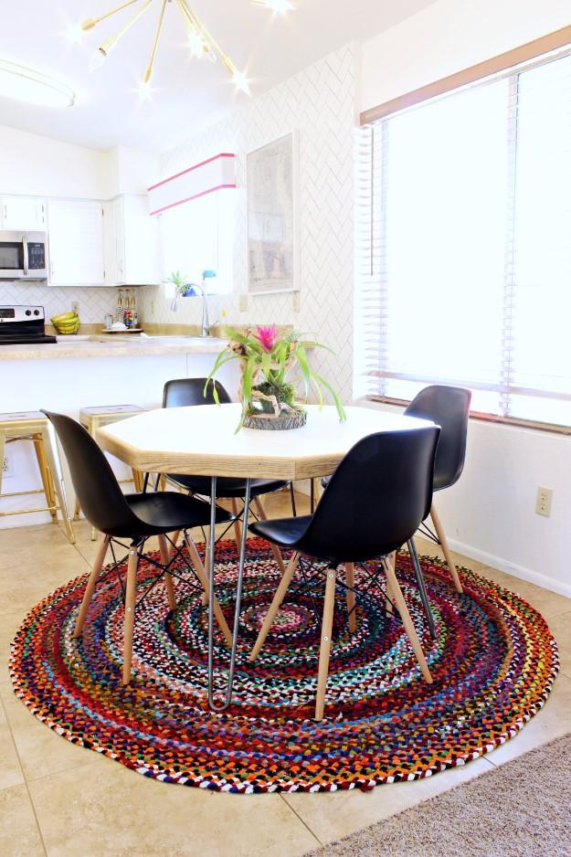 10. Hexagonal Dining Table via Simphome