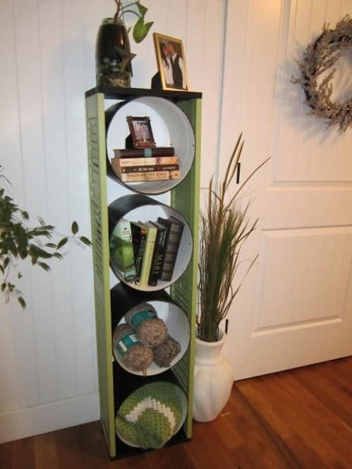 10. Unique Bookshelf via Simphome