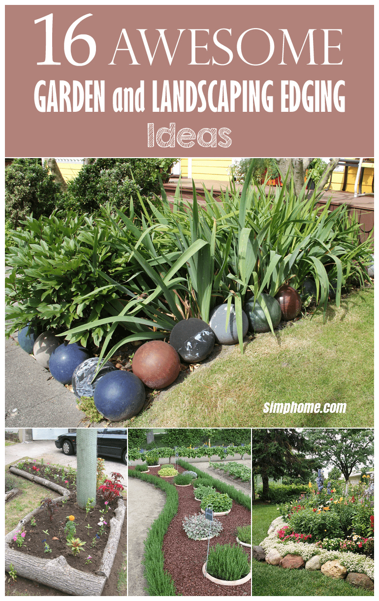 16 awesome garden and landscaping edging ideas intended for diy garden edging ideas credit cooldiyideas.com
