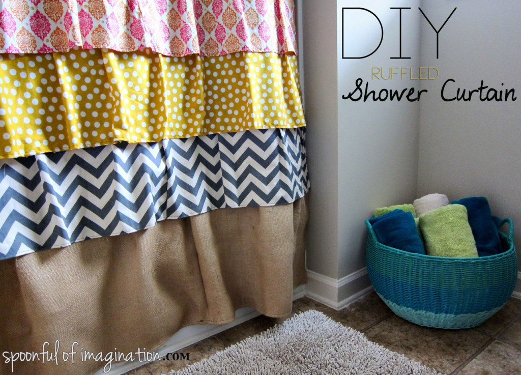 2. Eclectic and Cheap Shower Curtain via Simphome