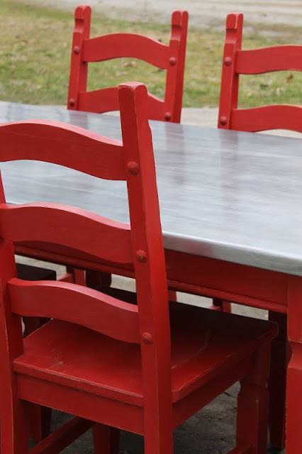 4. Dining Table with Zinc Sheet Metal Top via SImphome