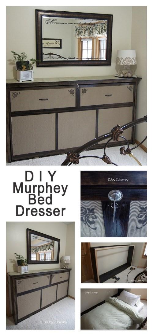 4. Faux Dresser Murphy Bed via Simphome