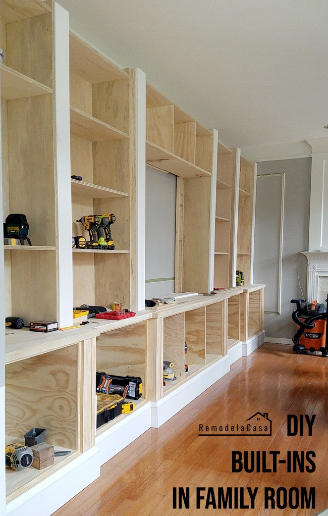 5. Built in Shelves via Simphome