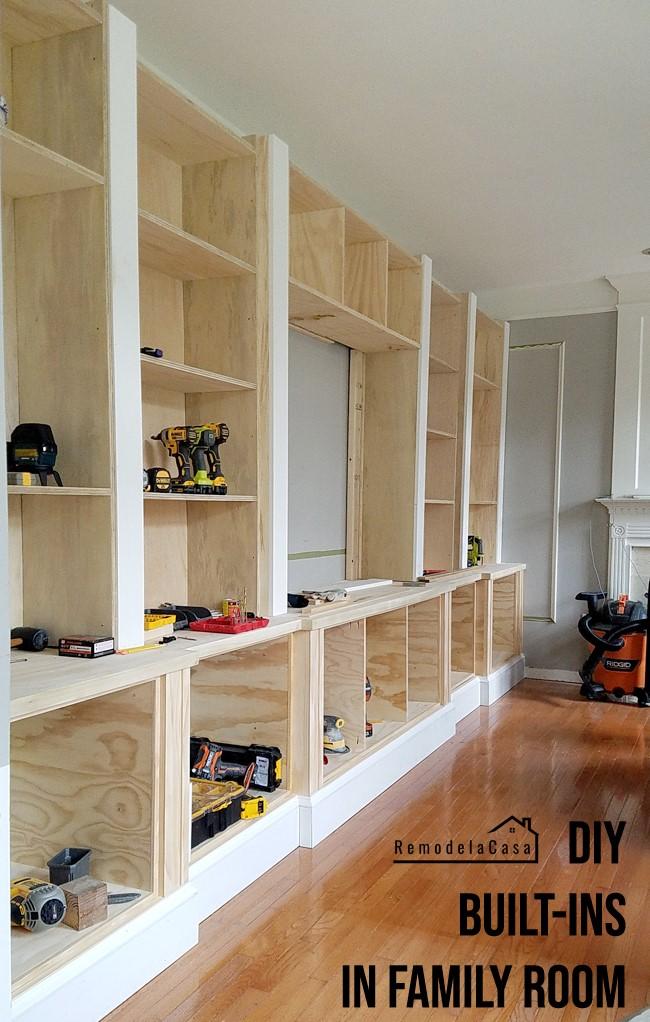 5. Built in Shelves via Simphome