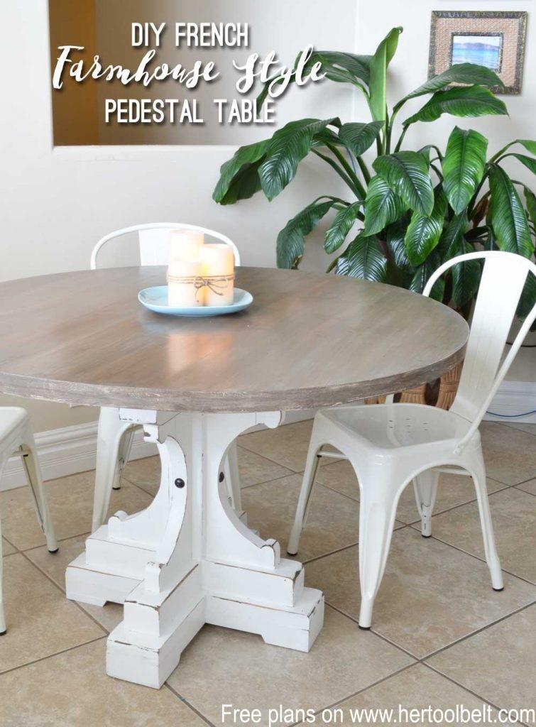 5. Round Pedestal Table via Simphome