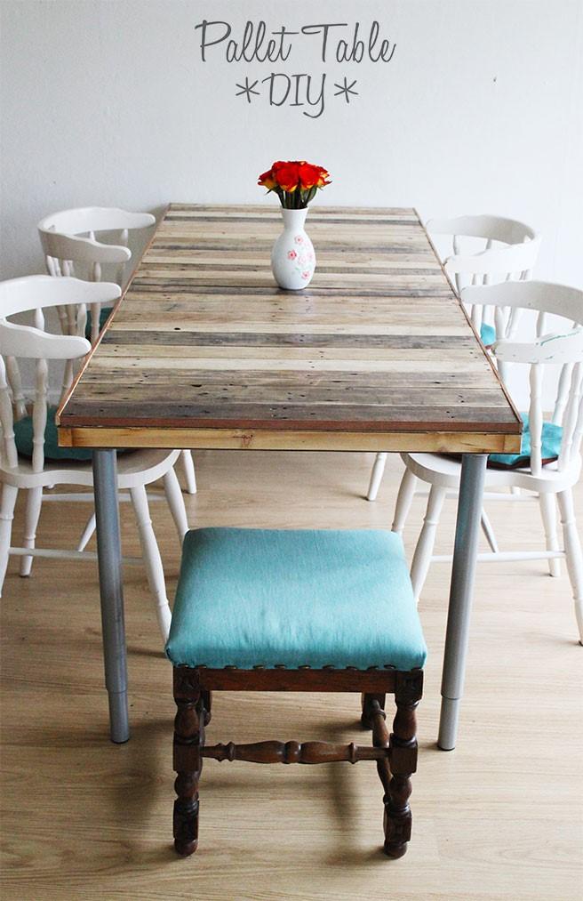 5. Simple Pallet Table via Simphome