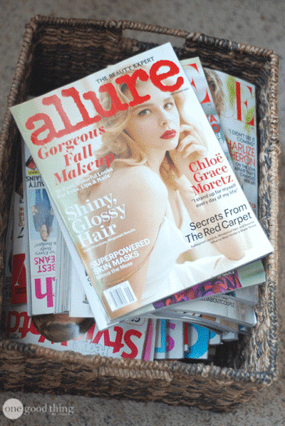9. Eradicate Your Old Magazines via Simphome