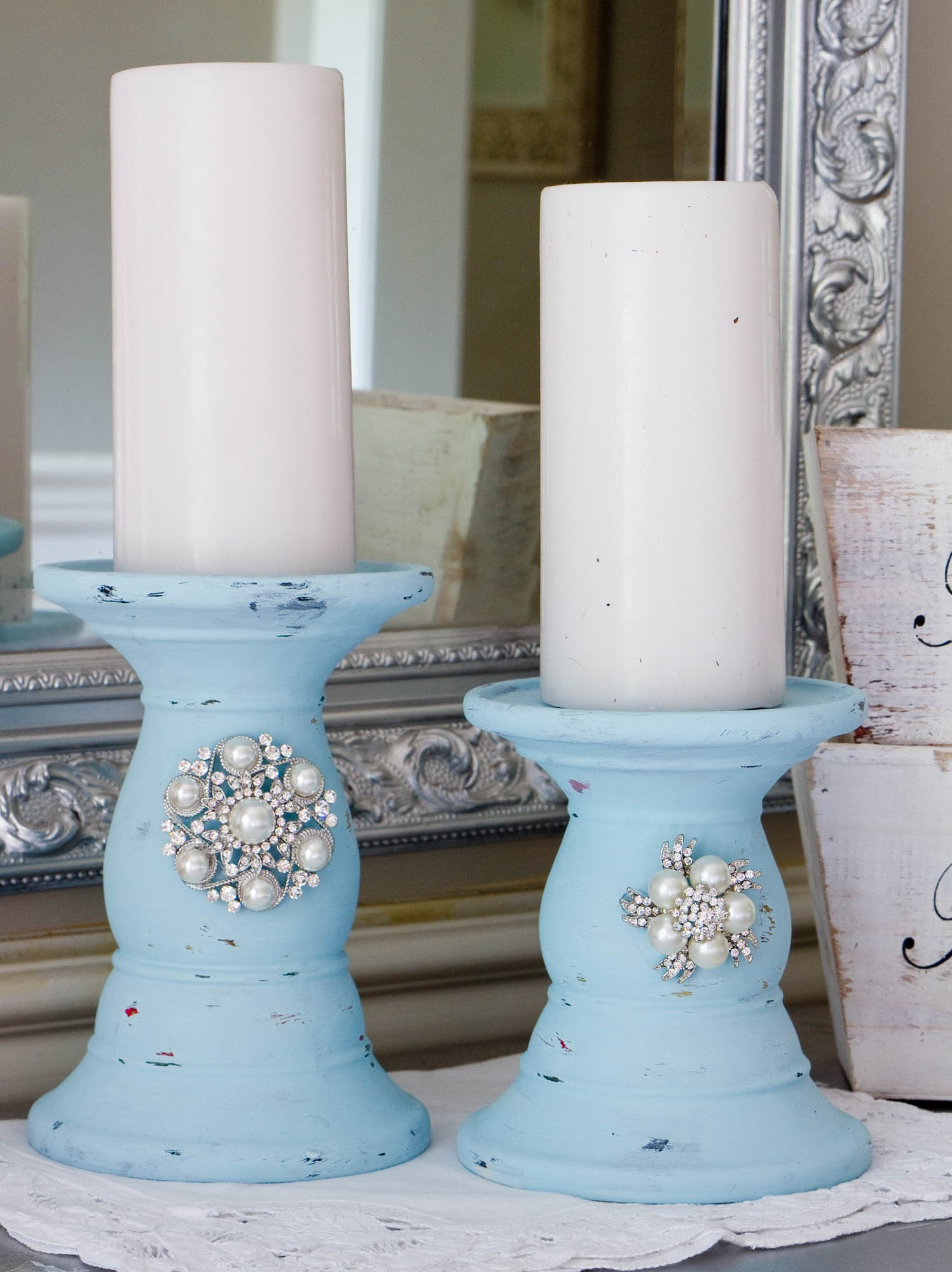 9. Lavish Look Candlesticks via Simphome