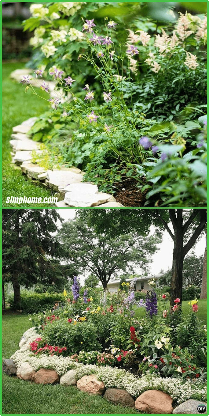 rock stone edging 20 creative garden bed edging ideas projects diy regarding 10 diy garden edging ideas most of the amazing and gorgeous Credit siliconkarne.com