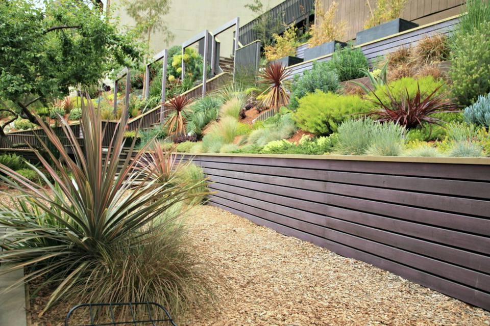 1. HillSide Garden Idea via Simphome.com