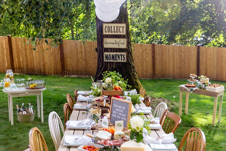 1.DIY Charcuterie Board Birthday party Table idea via Simphome.com