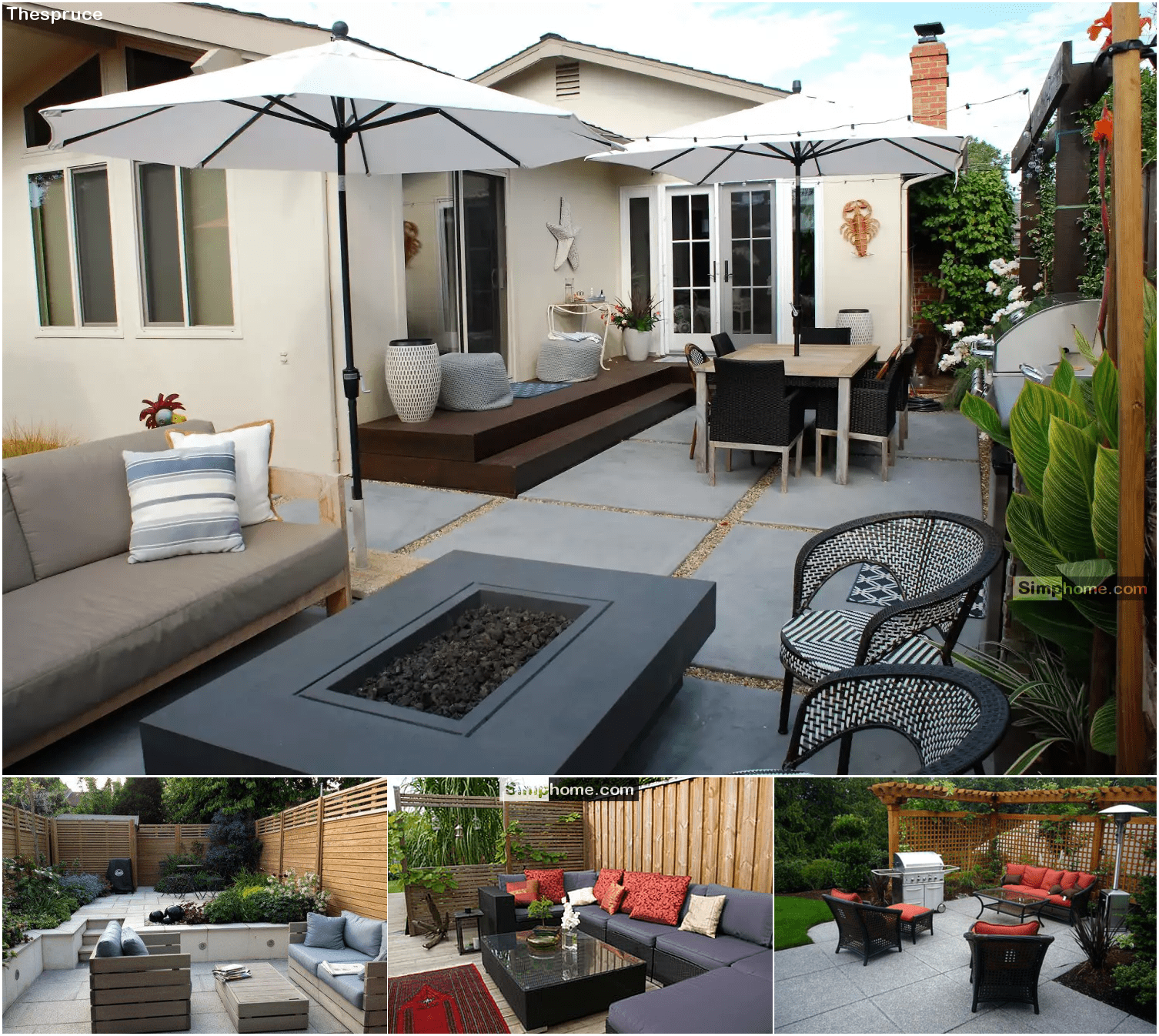 1.Stylish and Low Maintenance backyard Landscaping Ideas via Simphome.com