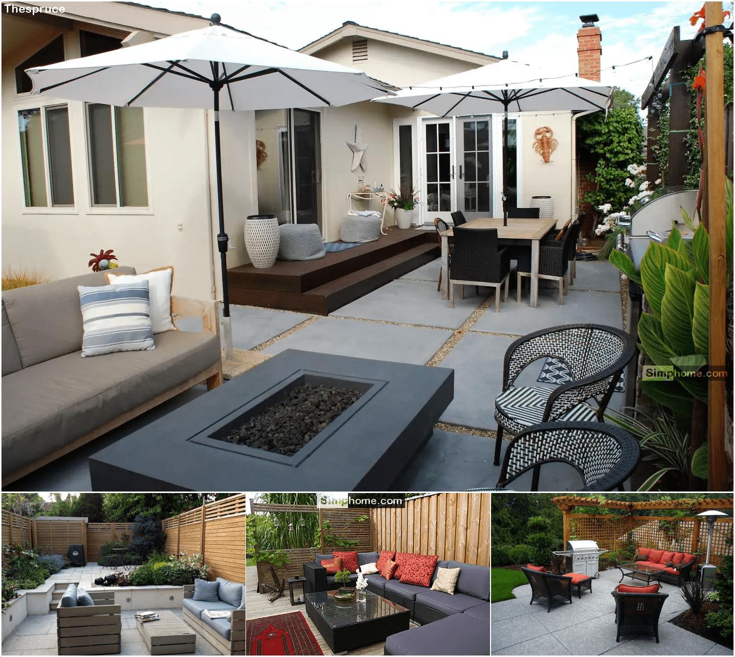1.Stylish and Low Maintenance backyard Landscaping Ideas via Simphome.com