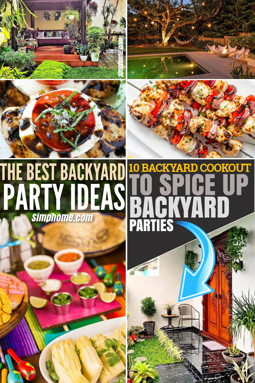 10 Backyard Cookout Ideas to Spice Up Your Backyard Party via Simphome.com Featured Pinterest Image