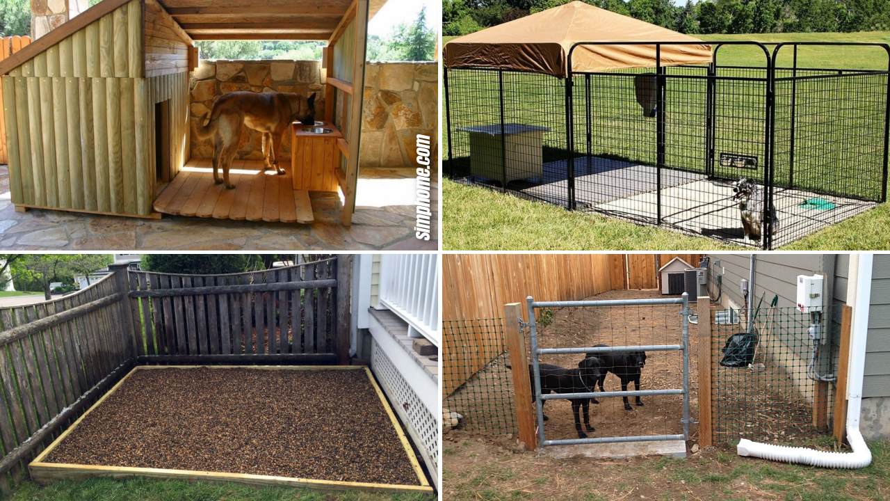 30+ Clever Designs of How to Build Backyard Dog Kennel ...