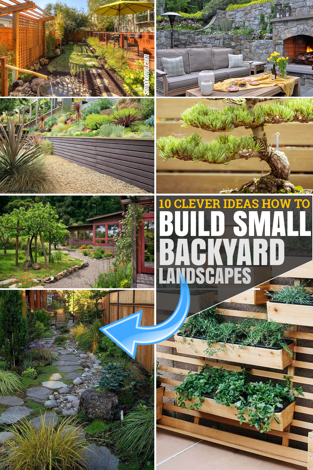 10 Clever Ideas How to Build Small Backyard Landscape By SIMPHOME.COM Pinterest Featured Image