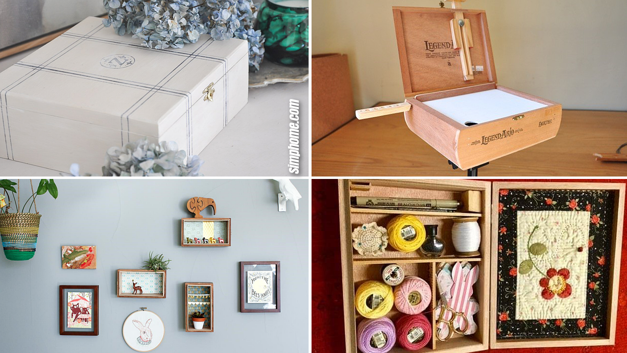 10 DIY Crafting and Storage ideas from Cigar Boxes via Simphome.com