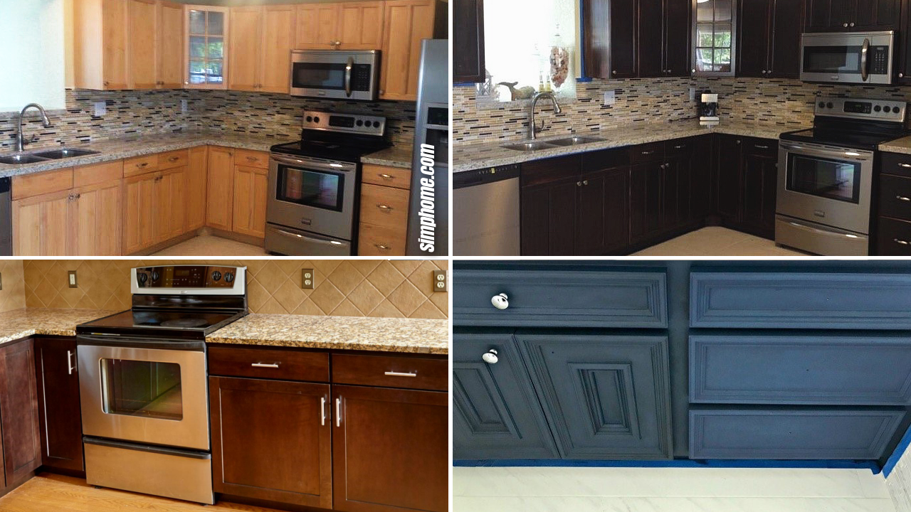 10 DIY before and after cabinet makeover projects via SIMPHOME.COM Featured Image