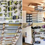 10 DIY garage organization and storage ideas via SIMPHOME.COM Featured Image
