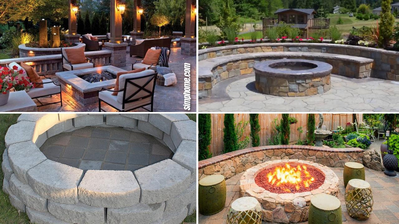10 Ideas How to Makeover Outdoor Backyard Outdoor Firepit via Simphome.com